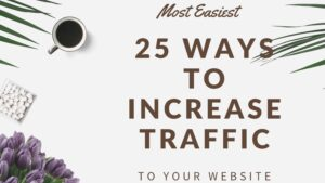 Most Easiest 25 Ways to Increase Traffic to Your Website