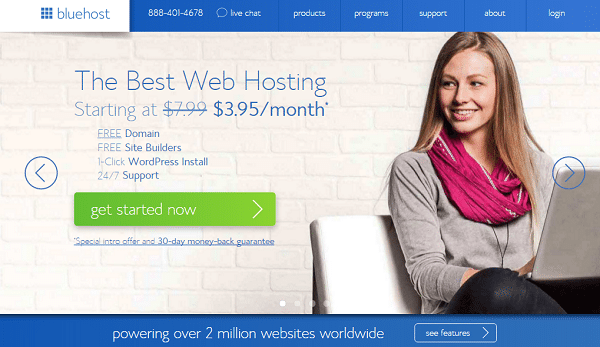 Start Your Blog with Bluehost